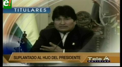 Titulares de TV: Abogado de Evo Morales manifestó que los juristas de Zapata deberían ser procesados por presentar fotos de diferentes niños