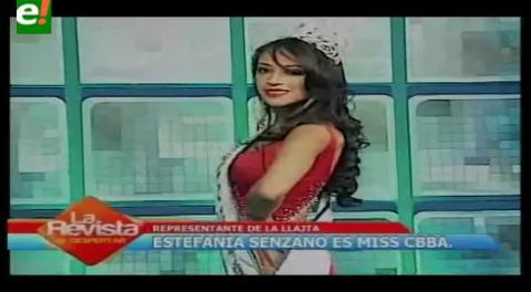 Miss Cochabamba 2016 es Estefanía Senzano