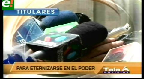 Titulares de TV: Oposición alerta que el Gobierno quiere controlar todos los medios de comunicación