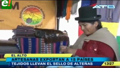 El Alto. Artesanas exportan tejidos a 15 países