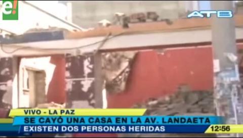 La Paz. Cae el muro de una casa y deja dos heridos