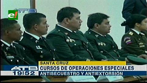Agentes de siete países se capacitan en un curso antisecuestros en Bolivia
