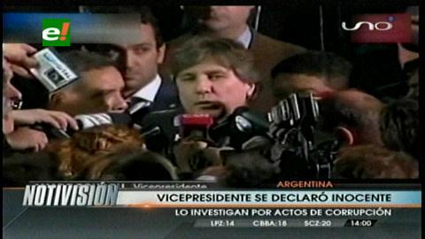 Vicepresidente argentino se declara inocente ante acusaciones de corrupción