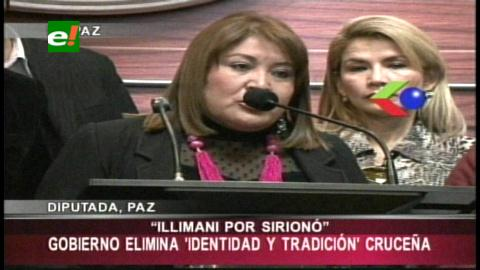 Diputada denuncia que el Gobierno cambió los nombres cruceños de los salones de la Expocruz