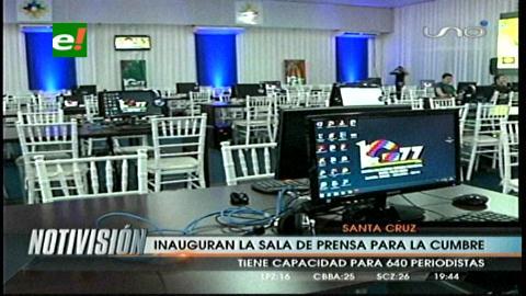 G-77: Evo inauguró la sala de prensa con críticas a la organización