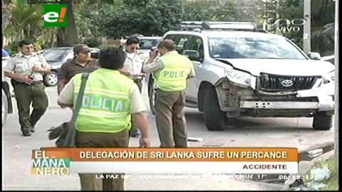 Accidente: Vehículo de la delegación de Sri Lanka se vuelca en Santa Cruz