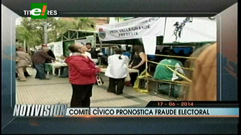 Comité Cívico cruceño pronostica fraude electoral en las elecciones de octubre
