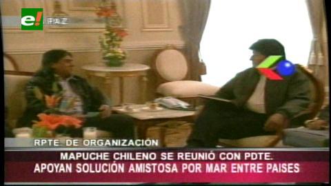 Mapuches piden a Evo Morales llevar mensaje a conferencia de la ONU