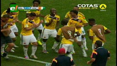 Colombia venció 2-1 a Costa de Marfil y baila hacia octavos