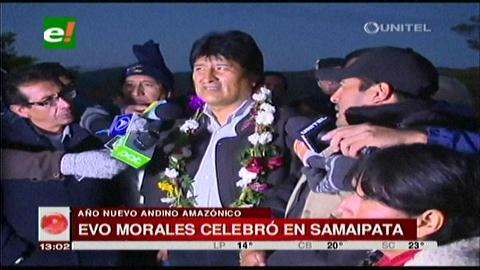Evo recibió el Lucero del Alba en El Fuerte de Samaipata