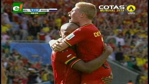 Copa del Mundo 2014: Bélgica le ganó a Rusia por 1-0 y clasificó a octavos