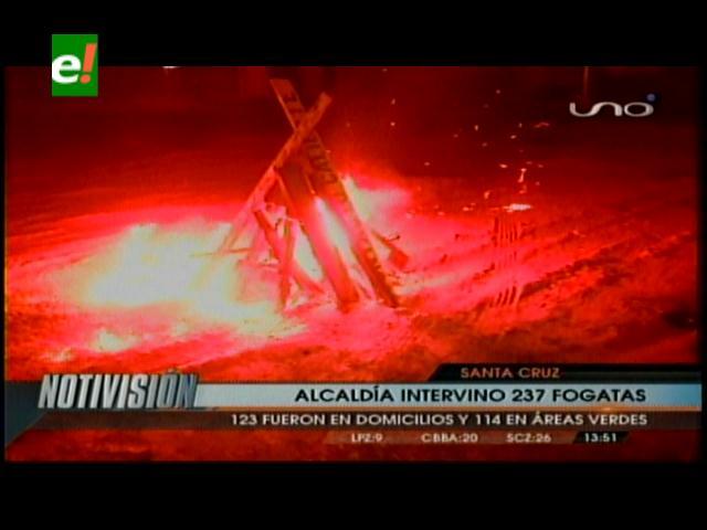 La capital cruceña registró 237 fogatas ilegales en San Juan