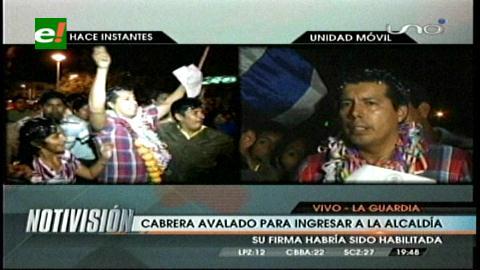 Jaime Cabrera es avalado para posesionarse en la Alcaldía de La Guardia