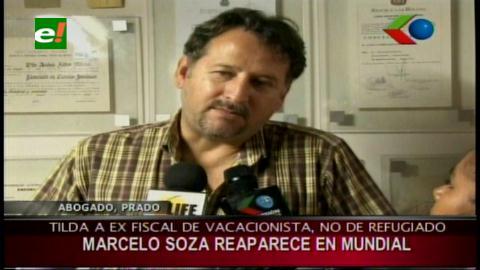 """Gary Prado: """"Marcelo Soza no está refugiado, es un turista en Brasil"""""""