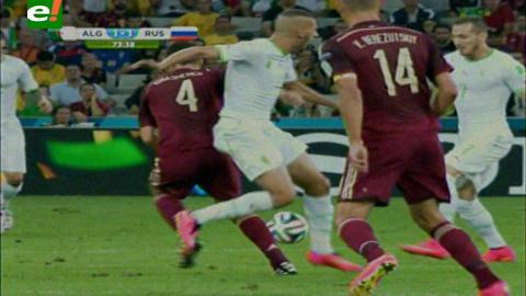 Argelia igualó 1-1 ante Rusia y enfrentará a Alemania en octavos