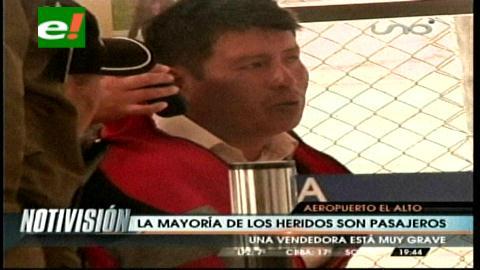 Aumentan a 11 los heridos por ataque en aeropuerto de El Alto