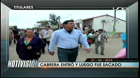 Titulares: Policía saca nuevamente a Jaime Cabrera de la Alcaldía de La Guardia