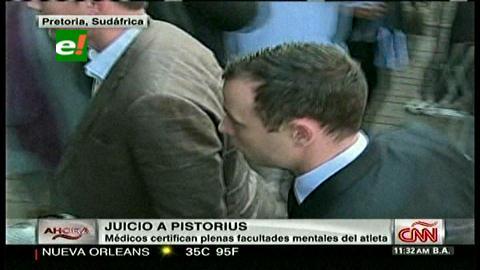 Pistorius no sufría ningún trastorno cuando mató a su novia, según expertos
