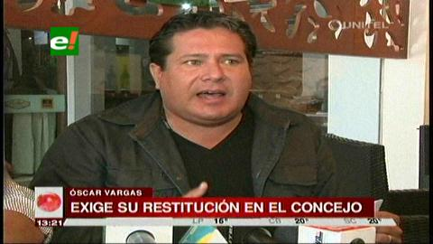 "Santa Cruz: Concejales ""rebeldes"" tratan de volver hoy a sus curules"