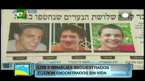 Encuentran cadáveres de tres israelíes adolescentes secuestrados