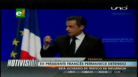 Detienen al ex presidente de Francia Nicolás Sarkozy por supuesto tráfico de influencias