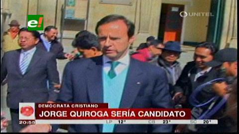 "Jorge ""Tuto"" Quiroga será presentado este miércoles como candidato presidencial"