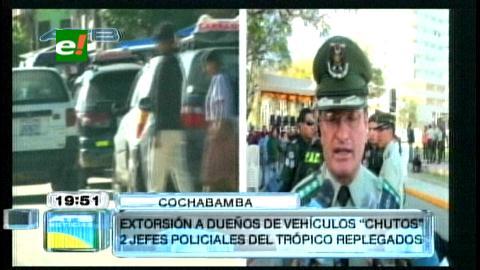 """Cambian a 2 jefes policiales del Trópico para facilitar investigación de autos """"chutos"""""""