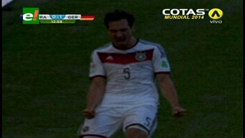 Alemania le ganó a Francia en el Maracaná y pasó a la semifinal