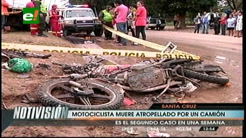 Motociclista pierde la vida al colisionar con un camión