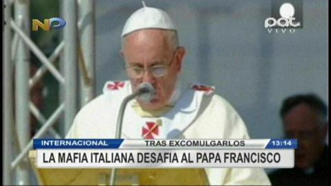 La mafia italiana desafía al Papa Francisco
