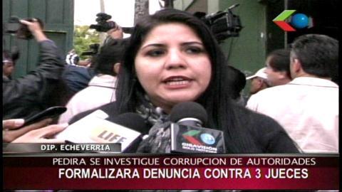 """Caso """"Negro"""" Gil: Diputada Echeverría denunciará a tres jueces por corrupción"""