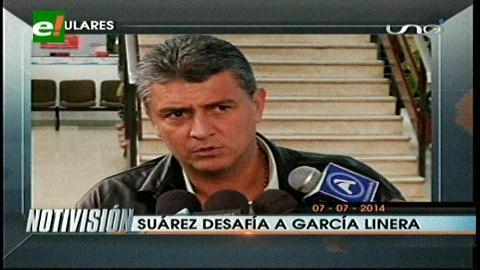 Titulares: Suárez desafía a un debate a García Linera