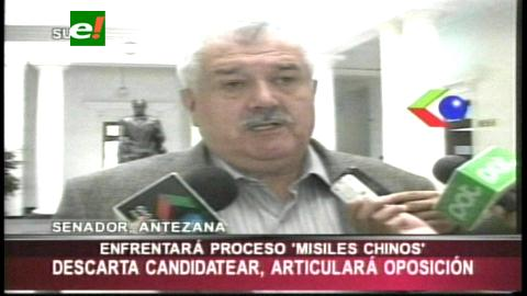 Senador Antezana descarta ir a una reelección