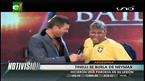 Tinelli se burló de la lesión que sufrió Neymar