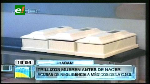 Cochabamba: Trillizos mueren por supuesta negligencia médica en la CNS