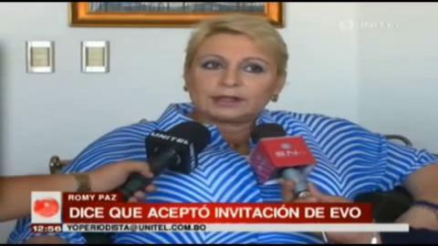 """Romy Paz, candidata del MAS: """"Voy como invitada de Evo Morales"""""""