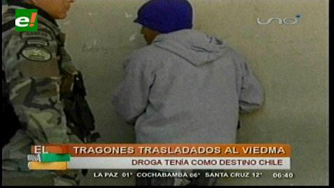 Cochabamba: Detienen a tres tragones de droga que iban en taxi