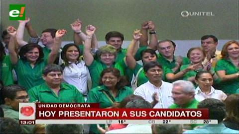 Unidad Demócrata presentó a sus candidatos por Santa Cruz