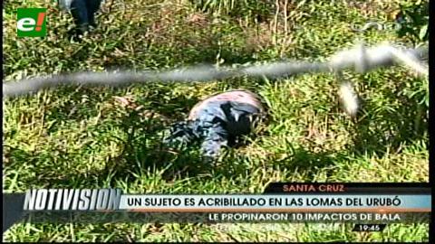 Encuentran asesinado a balazos a un hombre en las colinas del Urubó