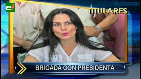 Titulares: Cristina Viscarra asumió la Presidencia de la Brigada Parlamentaria Cruceña