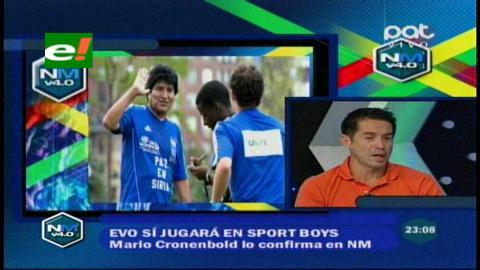 Mario Cronenbold asegura que Evo jugará en Sport Boys