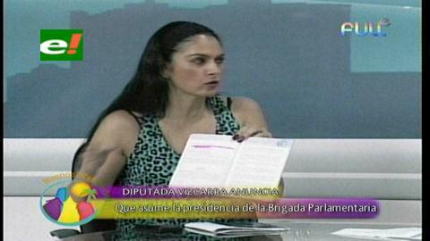 """Viscarra: """"Como presidenta, no permitiré que hagan campaña política en la Brigada Parlamentaria"""""""