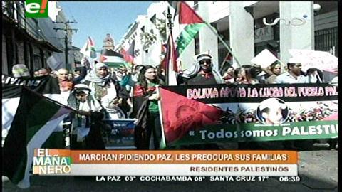 Palestinos en Santa Cruz marcharon pidiendo paz a Israel