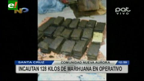 Cotoca: Incautan 128 kilos de marihuana