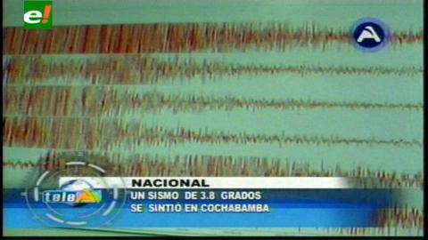 Sismo con epicentro en Chapare sacude Cochabamba sin daños materiales