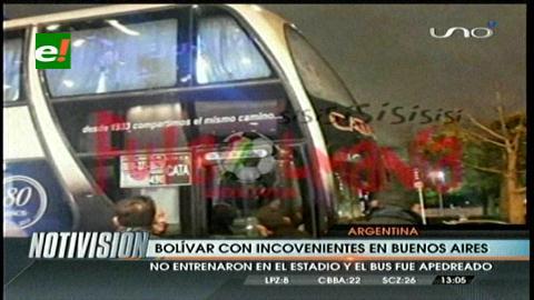 Bus de Bolívar es apedreado por hinchas de San Lorenzo