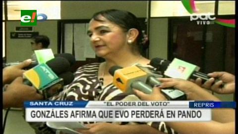 Gonzáles asegura que Evo no ganará en Pando