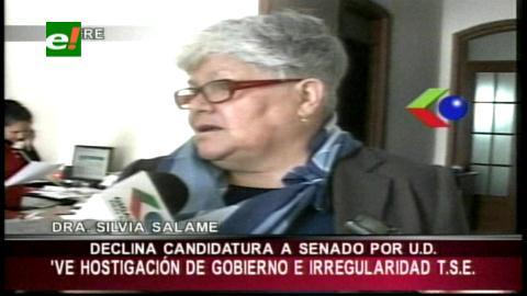 Silvia Salame renuncia a candidatura supranacional por supuesto hostigamiento