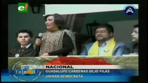 Guadalupe Cárdenas renuncia a su candidatura por UD