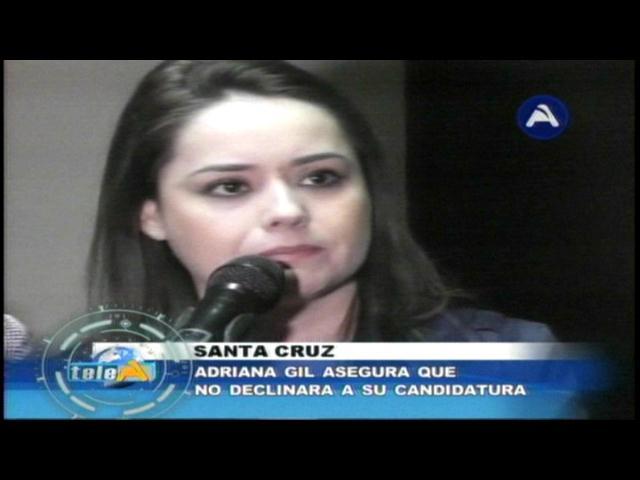 Adriana Gil asegura que no renunciará a su candidatura a la Vicepresidencia